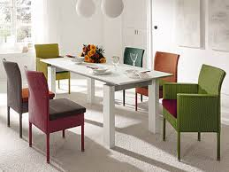 modern wood dining room sets: colorful dining room furniture sets with beautiful modern full colors dining chairs sets made of