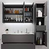 <b>Wall Cabinets Bathroom</b> locker Drug storage cabinet <b>Solid</b> wood ...