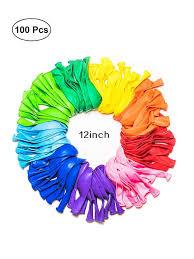 Buy <b>100Pcs</b> Balloons <b>Rainbow</b> Color Sets Birthday Wedding Party ...