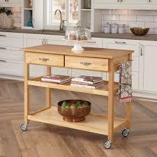 wooden top kitchen island