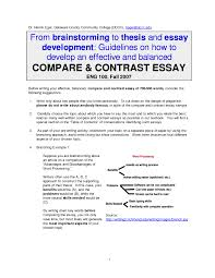 featured documents outline for compare contrast essay resume and gallery of compare contrast essay format