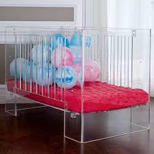 nurseryworks vetro crib in clear acrylic baby nursery furniture relax emma