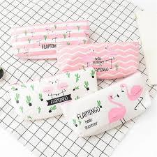 <b>1pcs</b>/<b>lot</b> Party favor Pink <b>Cartoon Flamingo</b> Pencil Case Storage ...
