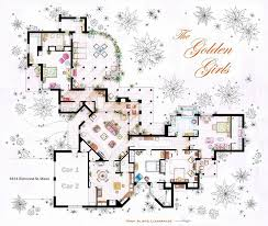 Incredibly Detailed Floor Plans Of The Most Famous TV Show HomesView this image ›  middot  The Golden Girls House floorplan