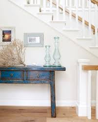distressed blue painted table beachy furniture