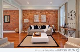 brick living room rooms creative design  red wall creative design