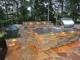 gallery outdoor kitchen lighting: image of outdoor kitchen countertops lighting