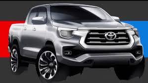 Toyota показала эскизы обновлённого пикапа Hilux, который не ...