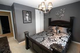 cute gray bedroom walls and gray walls and black furniture guest room a contemporary twist bedroom gray walls