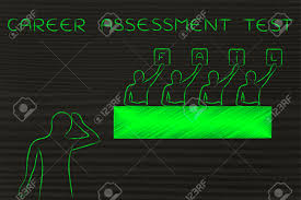 career assessment test judges showing the word fail instead career assessment test judges showing the word fail instead of a score stock photo