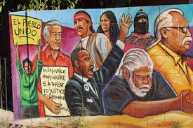 an injustice anywhere is a threat to justice everywhere jeff skeens this artwork is on the backyard wall of a home facing roosevelt st near my home i drive or walk by it most days and lately it has spoken much louder to