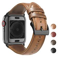 BRG Leather Bands for Apple Watch Band 44mm ... - Amazon.com