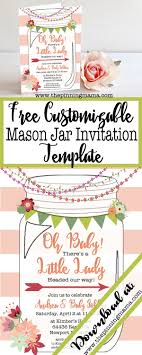 printable mason jar invitation the pinning mama template for a mason jar invitation perfect for a southern or rustic themed bridal