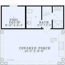 Poolhouse Plan   Bathroom   Nelson Design GroupRoof