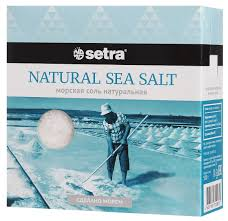 <b>Соль морская</b> Setra, <b>натуральная</b>, без добавок, помол №2, 500 г ...