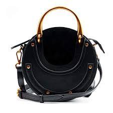 Actlure Women <b>Genuine</b> Cowhide <b>Leather Round</b> Shape Top ...