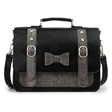 Amazon.com: ECOSUSI <b>Women Vintage PU Leather</b> Messenger ...