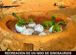 Resultado de imagen de TIPOS DE NIDOS DE DINOSAURIOS