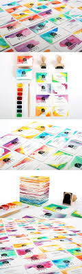 best images about creative resumes business cards on creative diy watercolour and custom stamped business cards