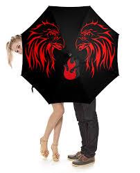<b>Зонт трость с деревянной</b> ручкой red orel
