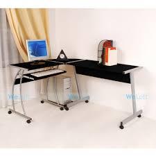 us stock black home office laptop computer corner desk table diy free shipping black home office laptop