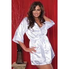 Купить белый секси-<b>халат</b> на запах, 1X/2X (48-52р.) в интернет ...
