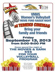 vista murrieta high school volleyball the movie night movie night flyer