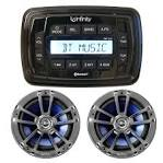 Boat stereo speakers