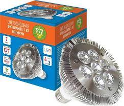 "<b>Фитолампа светодиодная</b> Garden Show ""Оптимум"", 7 Вт, 7 <b>LED</b> (4 ..."