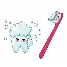 Мультфильм каваи зуб и <b>зубная щетка</b> милый персонаж уход за ...