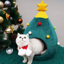 christmas tree <b>cat litter</b> kennel winter <b>warm pet</b> nest winter <b>cat</b> house ...