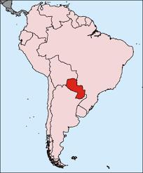 mapa de paraguay relleno con colores de su bandera