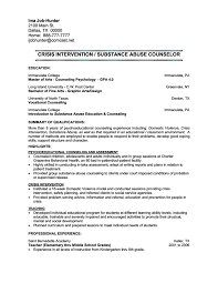 crisis intervention counselor resumefree resume templates