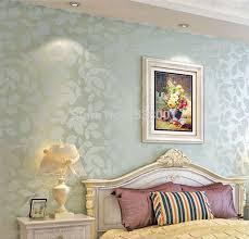 room elegant wallpaper bedroom: aliexpresscom buy elegant non woven light blue leaf embossed wallpaper warm bedroom living room background wallpaper pink wall paper from reliable