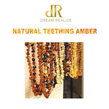 natural amber teething bracelets for baby baltic round beads bracelet fussiness reduce anklets 5 color