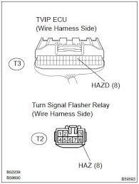 toyota corolla repair manual inspection procedure hazard 3 check wire harness tvip ecu turn signal flasher