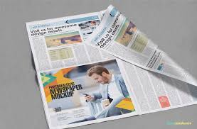beautiful newspaper ad psd mockup zippypixels 7 additional mockups as bonus