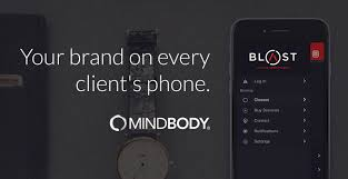 mindbody terms of service mobile screen displaying umbrella branded app