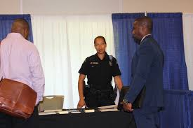 third annual veterans and military spouses career expo draws a king county sheriff s office personnel spoke interested people