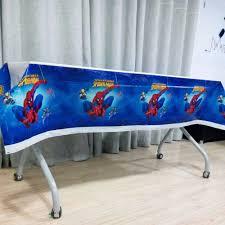 108cm*180cm Spiderman disposable tablecloth Cartoon theme ...