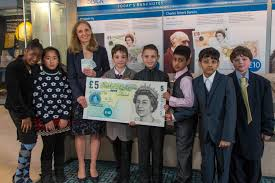 young enterprise fiver begins bank of england launch event rushey green primary school and chief cashier victoria cleland