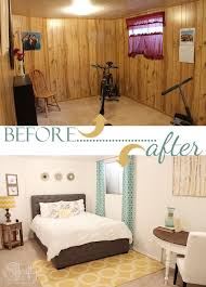 bedroom paneling ideas: basement guestroom makeover pinning this for my basement guest room when i finish the basement middot basement bedrooms ideasbasement