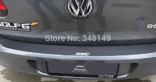 Aliauto <b>Car styling Carbon fiber</b> sticker scratch protection rear ...