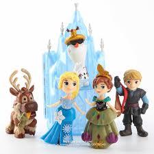 <b>Disney Frozen</b> Anna Elsa Princess Olaf Sven And Castle Ice Palace ...