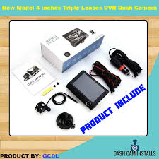 """<b>New</b> Model <b>4.3</b>"""" Triple Lens <b>Car DVR</b> Dash 3 Cameras Recorders ..."""