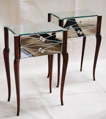 art deco mirrored bedside tables art deco mirrored furniture