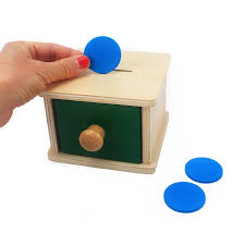 <b>Baby Wooden Montessori</b> Toys For Toddler <b>Infant</b> Coin Box Piggy ...