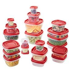 food storage containers rubbermaid easy find lids food storage container  piece set red