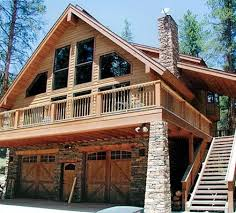 House plans design  Chalets and Garage on PinterestThe Model Chalet quot  style house plan from features additional bedrooms  bath and tuck under garage  an often asked for addition now available as a standard