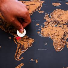 Unique Luxury World Travel Map <b>Black Deluxe</b> Map Wall <b>Decoration</b> ...